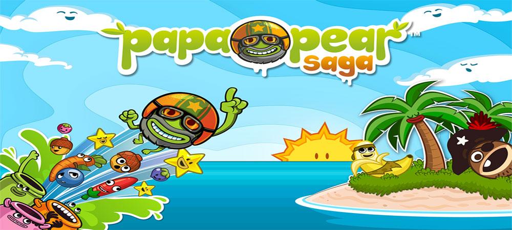 دانلود جدیدترین نسخه بازی پاپا گلابی-Papa Pear Saga v.1.83.3برای اندروید