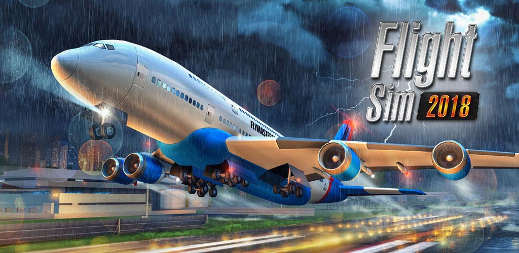 دانلود Flight Sim 2018 1.2.2 – بازی شبیه ساز پرواز هواپیما اندروید + مود + دیتا
