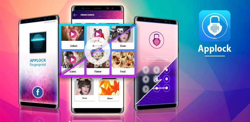 دانلود Applock – Fingerprint Password & Gallery Vault Pro 1.6 اندروید