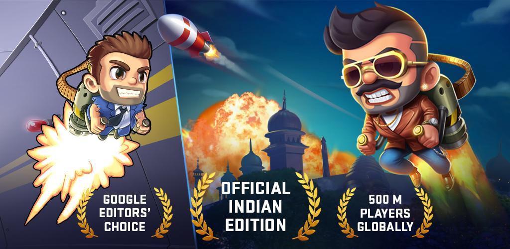 دانلود Jetpack Joyride India Exclusive – Action Game – پرواز با موتور جت اندروید